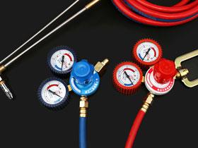 如何通过颜色区分焊接用橡胶软管所适用的气体?